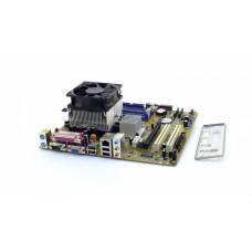 Asus A8V-VM alaplap és processzor, aktív hűtővel